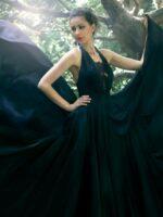 alkalmi ruha fekete selyemből