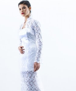 pamutszatén csipke menyasszonyi ruha