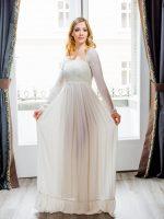 esküvői ruha selyemgézből