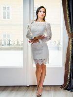 rövid makramé esküvői ruha