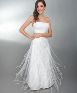 organza szalagos esküvői ruha