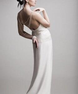 gyöngyös muszlin esküvői ruha