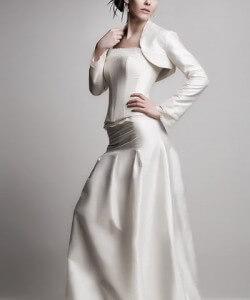 shantung fűzős esküvői ruha