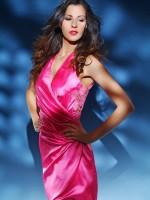 koszorúslány ruha pink szaténból