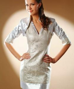 mini esküvői ruha ezüst.