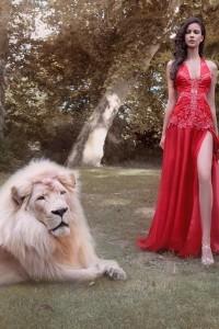piros estélyi ruha