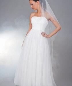 puha tüll esküvői ruha csipkével
