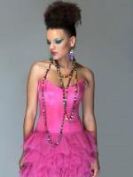 rózsaszín fűzős miniruha