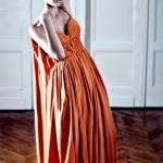 narancssárga estélyi ruha