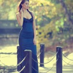 kék taft báli ruha