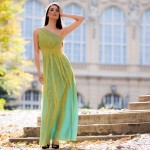 zöld estélyi ruha